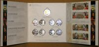 CANADA 2012/13 WAR OF 1812 SUPER STAMP COIN FOLDER SET $2 8X25C 2 PLATE BLOCKS
