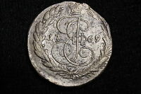 RUSSIA 1769  5  KOPEKS COIN  OLD RUSSIAN CRUDE STRUCK COIN NICE OLD COIN