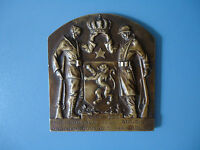 VINTAGE PLAQUE 100 YEARS INDEPENDENCE BELGIUM 1830   1930 OLD MEDAL