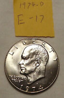 1974 D EISENHOWER LARGE DOLLAR UNCIRCULATED/ CHECK PHOTOS! E 17