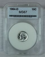 1964 D 10C ROOSEVELT DIME SILVER MINT STATE HIGH QUALITY US COIN UNCIRCULATED