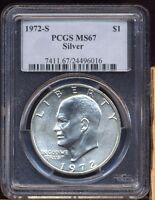 1972S UNCIRCULATED SILVER EISENHOWER DOLLAR PCGS MS67  PC3