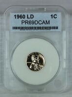 1960 1C LARGE DATE DC PROOF LINCOLN CENT DEEP CAMEO HIGH QUALITY US COIN BBB