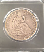1867 50C LIBERTY SEATED HALF DOLLAR KEY DATE