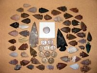 INDIAN HEAD  & 10 WHEAT CENTS W/ 50 ARROWHEADS/SPEARHEADS TEXAS ESTATE 5 1700