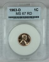 1963 D 1C RD LINCOLN CENT MINT STATE HIGH QUALITY US COIN FROM MINT SET AAA