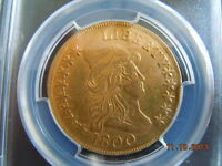 1800 DRAPED BUST 10.00 GOLD EAGLE PCGS GRADED LOW MINTAGE OF 5900!  DATE