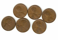 1939S 1935 1927 1955D 1923 1924 WHEAT LINCOLN PENNY LOT SEE PIC FOR CONDITIONS