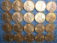 LOT OF 20 1958 D LINCOLN WHEAT CENTS XF/AU NO JUNK DRAWER