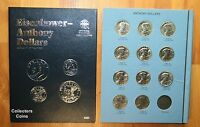 1979 1999  $1 SUSAN B ANTHONY DOLLAR COMPLETE 11 COIN PDS BU SET WWHITMAN FOLDER