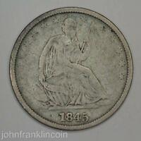 1845 O 50C SEATED LIBERTY HALF DOLLAR VG