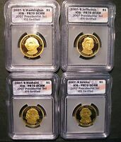 2007-S 4PC PRESIDENTIAL SET ICG CERTIFIED PR70DCAM WASH.,ADAMS,JEFFERSON,MADISON