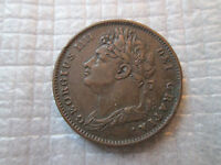 1825 GREAT BRITAIN FARTHING COPPER     XF    KM677  UK ENGLAND