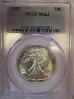 1937 WALKING LIBERTY HALF DOLLAR 50C NGC MS 63   LD12
