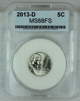 2013 D SMS 5C SATIN FINISH JEFFERSON NICKEL MINT STATE HIGH QUALITY UNCIRCULATED