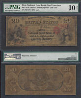 $20 1870 NATIONAL GOLD BANK NOTE   RARITY  CH. 1741  PMG