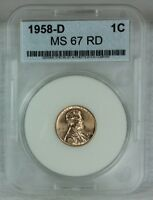 1958 D 1C RD LINCOLN CENT MINT STATE HIGH QUALITY US COIN FROM MINT SET AAA