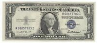AU CRISP 1935F SILVER CERTIFICATE BLUE SEAL W68857783I $1.OLD CURRENCY GODLESS