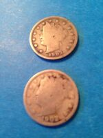 LOT OF TWO LIBERTY HEAD NICKELS 1903 AND 1902