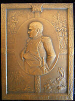 FRANCE 1769 1821 HOMMAGE TO NAPOLEON IST   SPECTACULAR COPPER PLAQUE BY GIBAULT