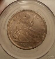 1864 S SEATED HALF DOLLAR PCGS XF 45 CIVIL WAR DATE ORIGINAL