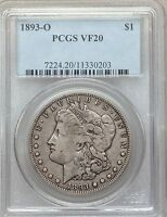 1893-O PCGS VF20 BETTER DATE MORGAN SILVER DOLLAR  CIRCULATED  FINE