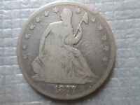 1877 S SEATED LIBERTY HALF 1/2 DOLLAR 50C US SILVER COIN