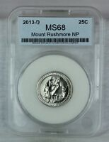 2013 D SMS 25C SATIN FINISH MOUNT RUSHMORE N.P. QUARTER MINT STATE HIGH QUALITY