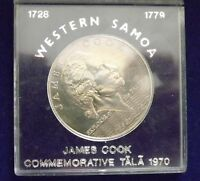1970 COMMEMORATIVE WESTERN SAMOA JAMES COOK  $1 COIN
