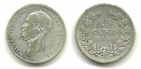 NETHERLANDS   SILVER 25 CENTS 1849   KING WILLIAM II   NICE