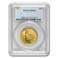 $10 INDIAN GOLD EAGLE MS 62 PCGS  RANDOM    SKU 12918