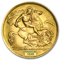 1871 2014 GREAT BRITAIN GOLD 1/2 SOVEREIGN AVG CIRC   SKU 10982