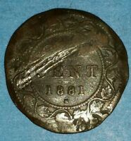1881 H CANADIAN LARGE PENNY   ID 46C 2