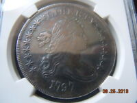 1797 DRAPED BUST DOLLAR NGC XF DETAILS  BEAUTIFUL COIN ONLY 7000 MINTED