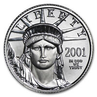 2001 1/10 OZ PLATINUM AMERICAN EAGLE BU   SKU 4886