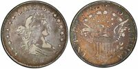 1806 HALF DOLLAR POINTED 6, STEMS O-117, R-4, PCGS VF-35 CAC MONSTER TONED