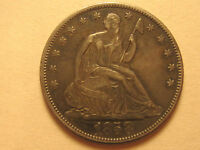 1858 SEATED LIBERTY SILVER HALF DOLLAR  VARIETY 1  1856 1866  .