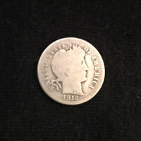 1916 S BARBER SILVER DIME BUSINESS CIRCULATED SAN FRANCISCO UNCERTIFIED UNGRADED