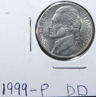 1999 P/P OR D/P JEFFERSON NICKEL ERROR DDO & DDR