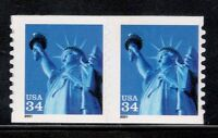 3477 STATUE OF LIBERTY PAIR MINT/NH