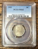 1903 LIBERTY NICKEL PCGS MINT STATE 62   REV TYE   9703110