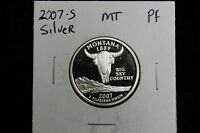 2007S SILVER PROOF MONTANA  STATEHOOD QUARTER U.S. SILVER PROOF QUARTER,