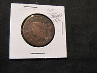1829 CORONET HEAD LARGE CENT COUNTERSTAMPED