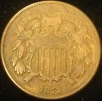 1871 TWO CENT PIECE 2C