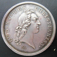 FRANCE 1747 LOUIS OF FRANCE WEDDING   ORIGINAL SILVER MEDAL BY MARTEAU