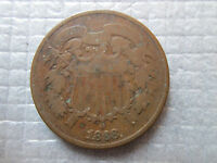 1868 2 US TWO CENT PIECE 2C