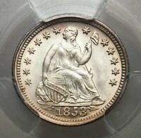 1853 SEATED HALF DIME WITH ARROWS PCGS 65  WOW GEMMY