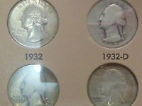 WASHINGTON QUARTERS COMPLETE 1932   1974 P D S  OVER 50 COINS UNCIRCULATED
