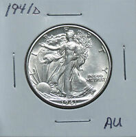 1941D AU PROBLEM FREE WALKING LIBERTY HALF DOLLAR 6M27GRP