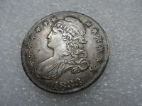 1833 CAPPED BUST HALF DOLLAR COIN AU ON SILVER COPPER